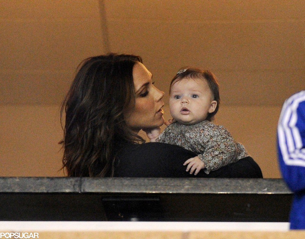In November 2011, Victoria Beckham and Harper hung out in a private box while David Beckham and the boys celebrated the LA Galaxy Western Conference Championship win on the field.