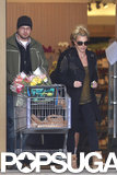 Britney Spears left a grocery store in LA.