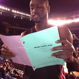 Dwyane Wade helped his girlfriend, Gabrielle Union, learn her lines for an upcoming part. Source: Twitter user itsgabrielleu