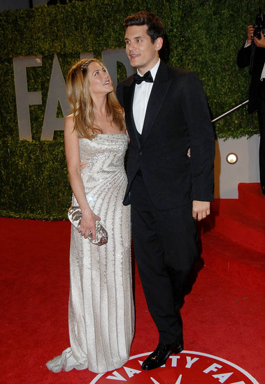 Jennifer Aniston chose a Valentino gown for her 2009 turn at the Oscars. She brought then boyfriend John Mayer as her date, and the duo cuddled inside the Vanity Fair afterparty.