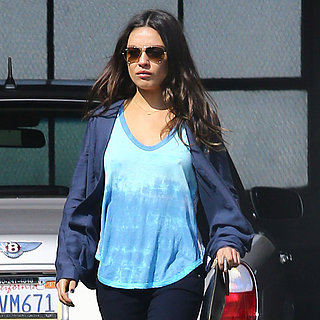Mila Kunis at Neil George Salon