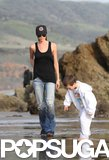 Victoria Beckham hit the beach in Malibu, CA, with Cruz in January 2010.