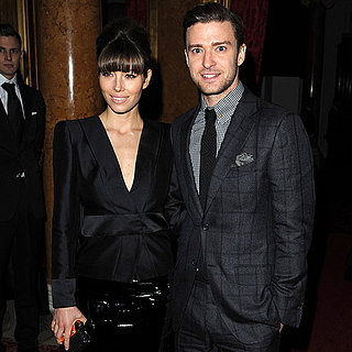 Justin Timberlake and Jessica Biel at London Fashion Week