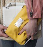 Double bags, double the fun — how cute is the yellow Marc by Marc Jacobs clutch?