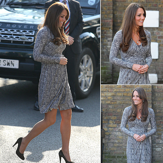 Kate Middleton Makes the Wrap Dress a Maternity Must
