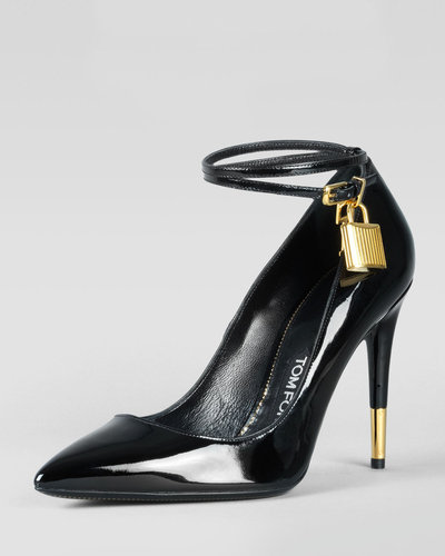 Tom Ford Padlock Ankle-Strap Pump