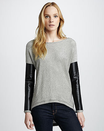 Generation Love Faux-Leather-Sleeve Sweater (Stylist Pick!)