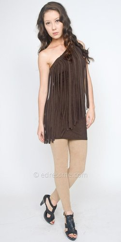 Fringe One-shoulder Party Dresses by eDressMe Private Collection