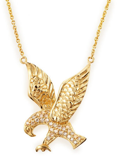 Sydney Evan Pave Eagle Necklace