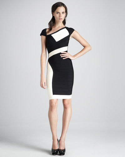 Herve Leger Paneled Bandage Dress