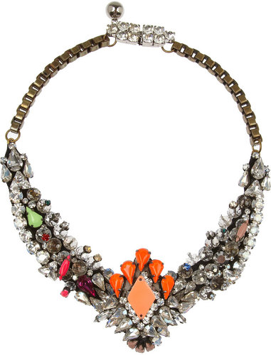 Shourouk Venus silver-plated Swarovski crystal necklace