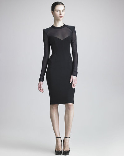 Donna Karan Sheer-Paneled Sheath Dress