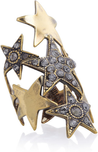 Emilio Pucci Crystal-embellished star ring