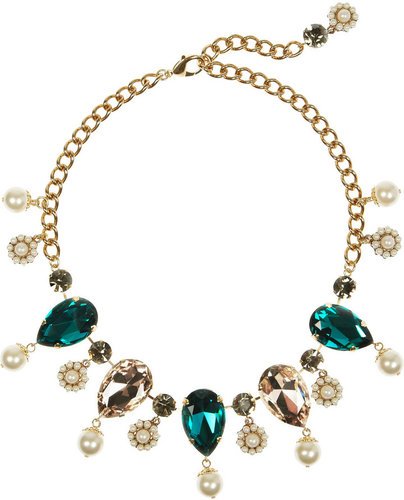 Dolce & Gabbana Gold-plated oversized Swarovski crystal necklace