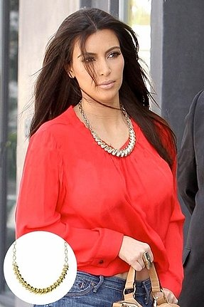 Belle Noel by Kim Kardashian Rams Horn Collar Necklace in Gold