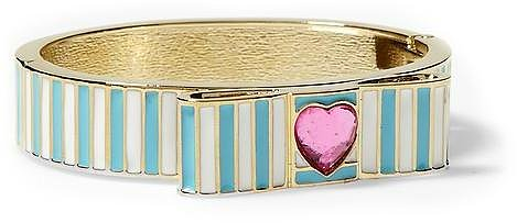 Betsey Johnson Striped Bow Bangle Bracelet