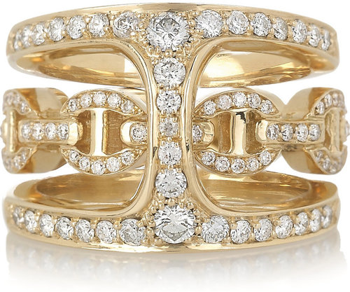 HOORSENBUHS by Robert Keith Phantom 18-karat gold and diamond double ring