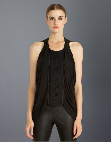 BCBGMAXAZRIA Eve Fringed Top