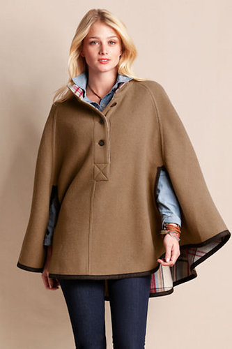 Women's Reversible Wool Cape