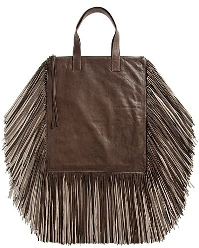Barbara Boner - Ginger Fringed Calfskin Leather Tote