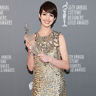 Anne Hathaway Costume Designers Guild Awards (Video)