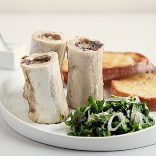 Roasted Bone Marrow With Parsley Salad