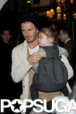 David Beckham and Harper made their way to dinner in Paris.