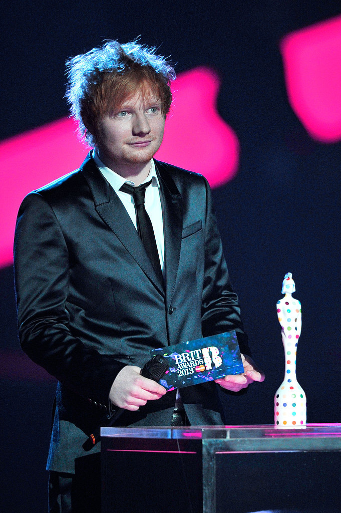 Ed Sheeran stepped onto the stage.