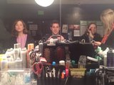 The Office stars Ellie Kemper, John Krasinski, and Jenna Fischer sat down for makeup before filming one of the last episodes of the show. Source: Twitter user johnkrasinski