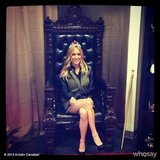 Kristin Cavallari sat in a throne at the Zappos offices. Source: Kristin Cavallari on WhoSay