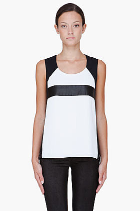 RAG & BONE White Combo Lara Tank Top