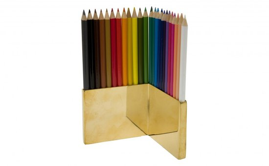 We have never seen a better-looking colored pencil display ($75). Ever.
