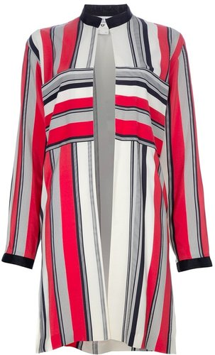Beatrice Di Borbone Vintage Striped coat