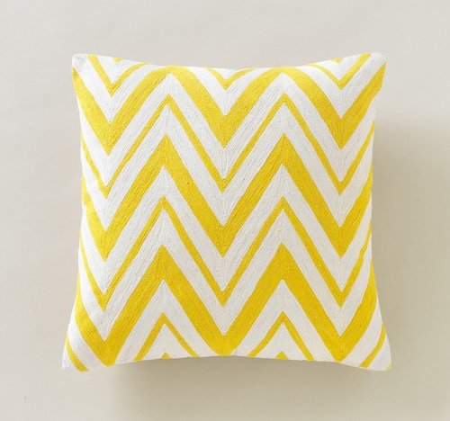 Chevron Citrine Pillow