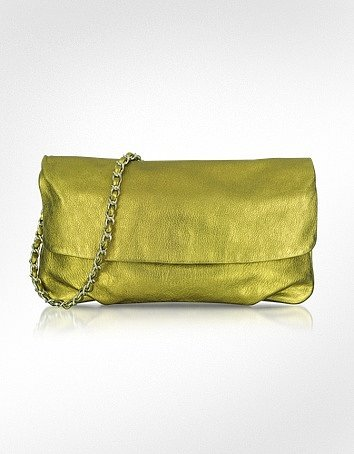 Elie Tahari Emory - Metallic Leather Clutch