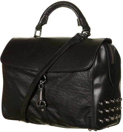 Leather Studded and Clip Bag