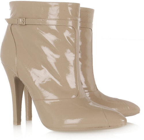 Maison Martin Margiela Varnished leather ankle boots