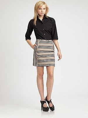 10 Crosby Derek Lam Cotton Awning Stripe Skirt