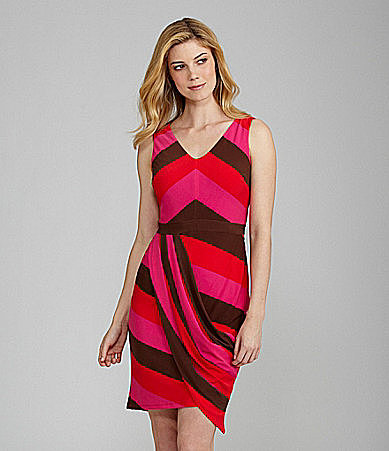Evan Picone Striped Knit Dress