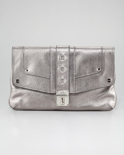 Milly Harper Metallic Clutch Bag, Gunmetal