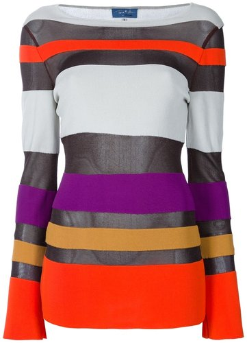 Thierry Mugler Vintage striped top