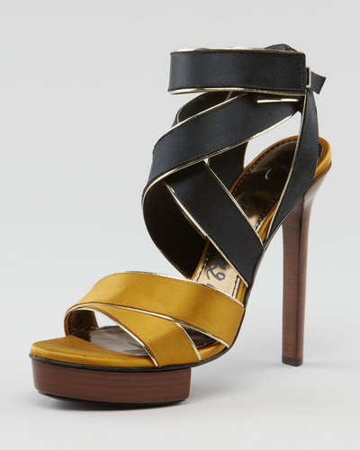 Lanvin Crisscross Satin Sandal