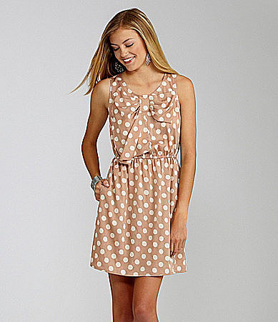 GB Sleeveless Polka Dot Dress
