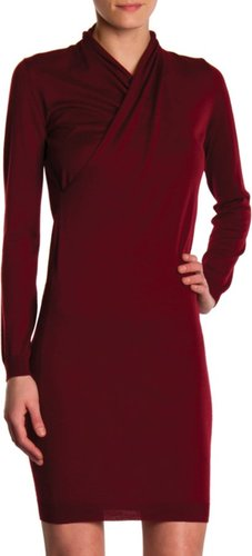 Lanvin Cross Front Sweater Dress