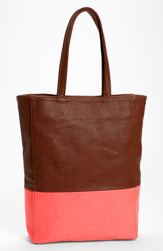 Street Level Colorblock Faux Leather Tote