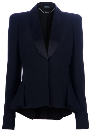 Alexander McQueen ruffle blazer
