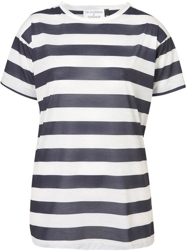 **Stripe Print T-shirt by J.W. Anderson for Topshop