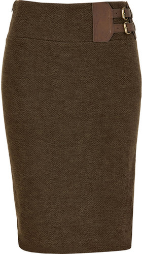 Ralph Lauren Fraser Wool Tweed Jackson Pencil Skirt