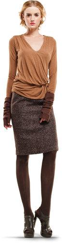 Brown Tweed Skirt
