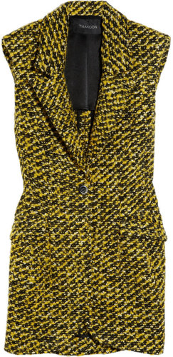 Thakoon Sleeveless wool-blend tweed blazer